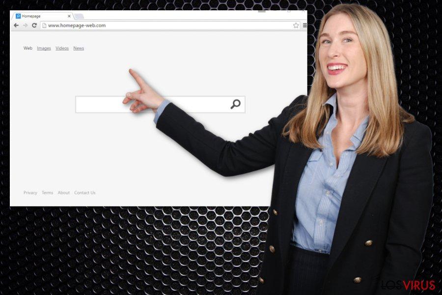 Virus Homepage-web.com