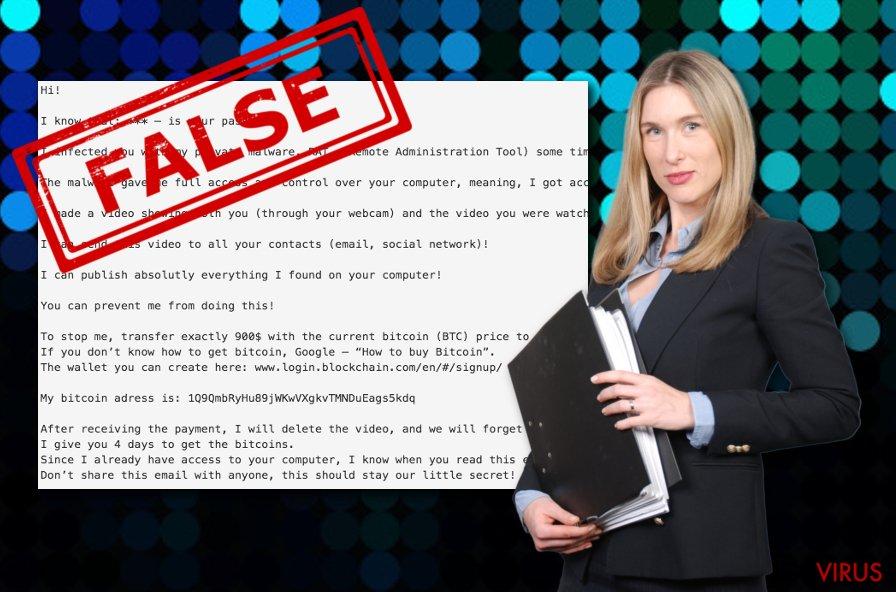 Te he infectado con mi malware privado (RAT) (email estafa)