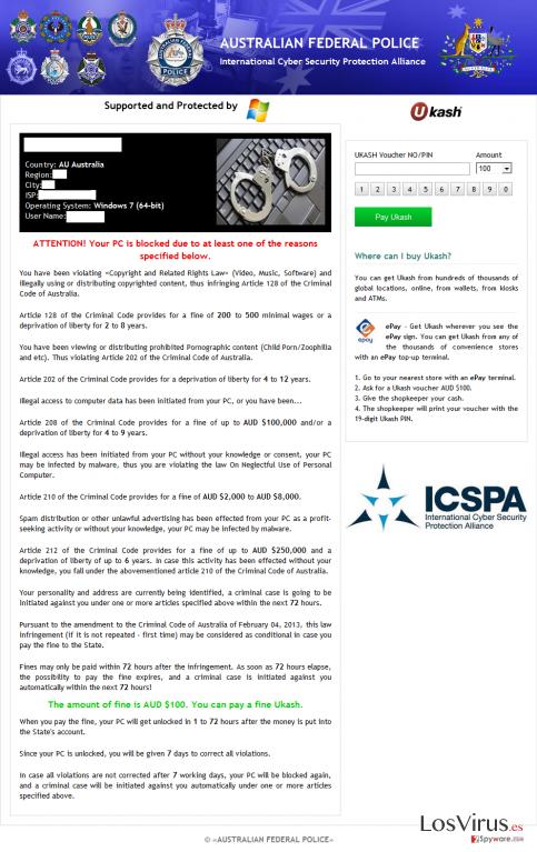 ICSPA virus foto