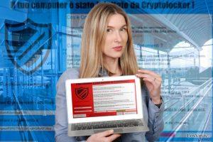 El virus ransomware Il tuo computer e stato infettato da Cryptolocker!