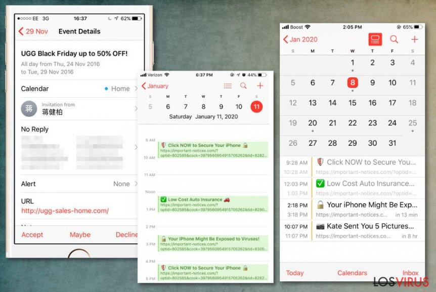 Spam en el Calendar