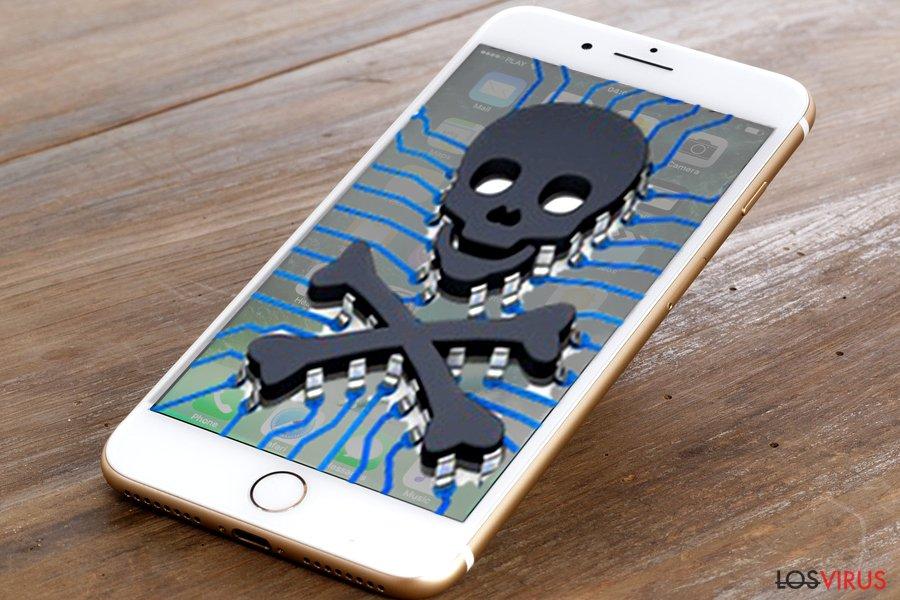 Imagen de un virus iPhone