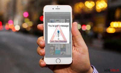 La imagen que muestra un virus iOS