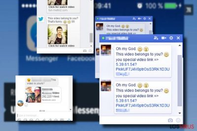 """Mostrando el virus Facebook """"Is that you"""""""