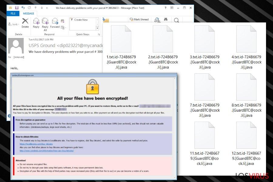 Ransomware extensión de archivo .java foto