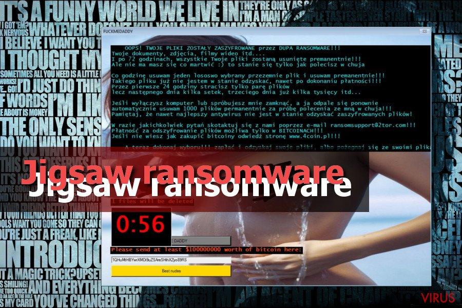 El virus ransomware Jigsaw foto