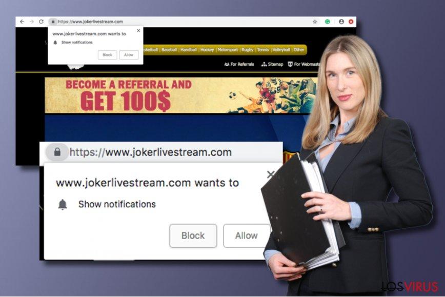 Aplicación potencialmente no deseada Jokerlivestream.com