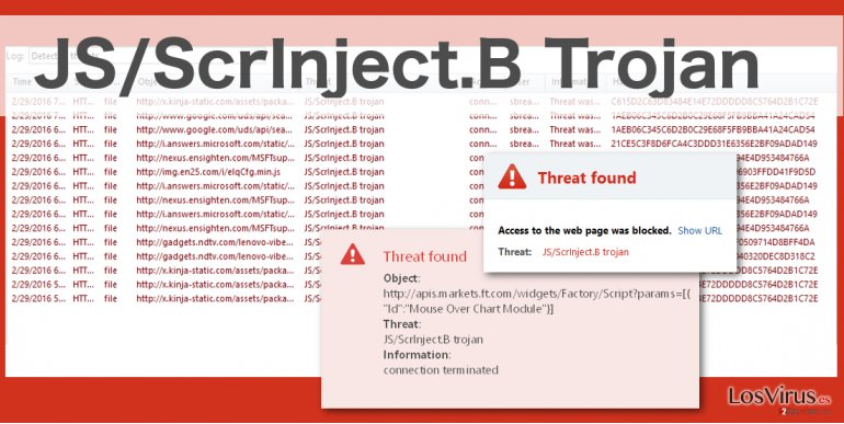 JS/ScrInject.b website virus illustration