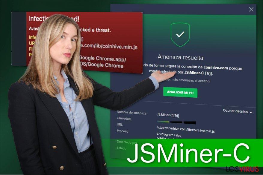Ilustración del troyano JS:Miner-c