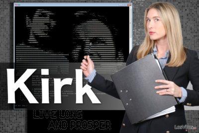 Imagen del virus ransomware Kirk