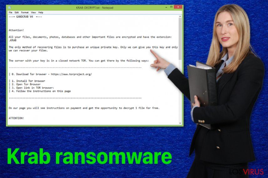 Virus ransomware Krab