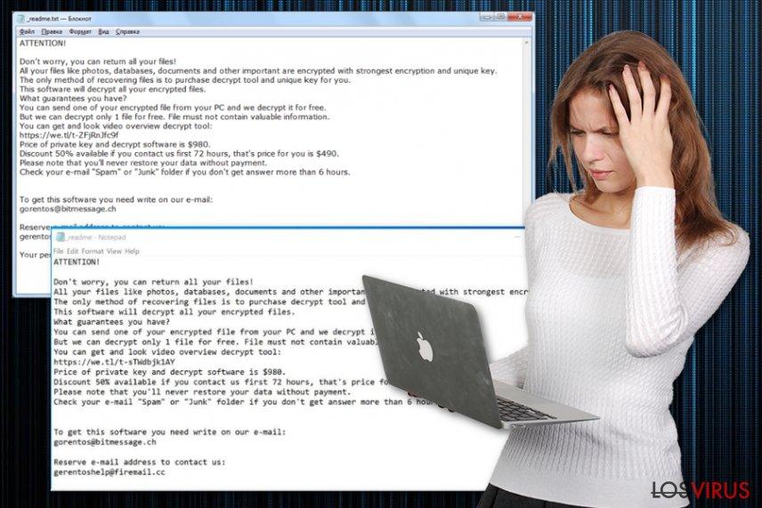 Virus ransomware Kuub