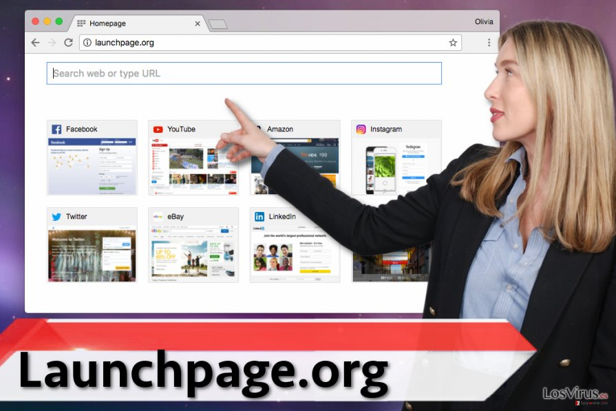 El virus Launchpage.org