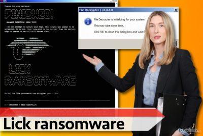 Versión del ransomware Lick