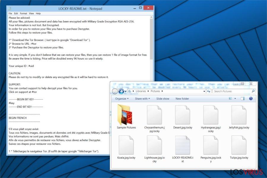 Imagen del ransomware Locky Locker