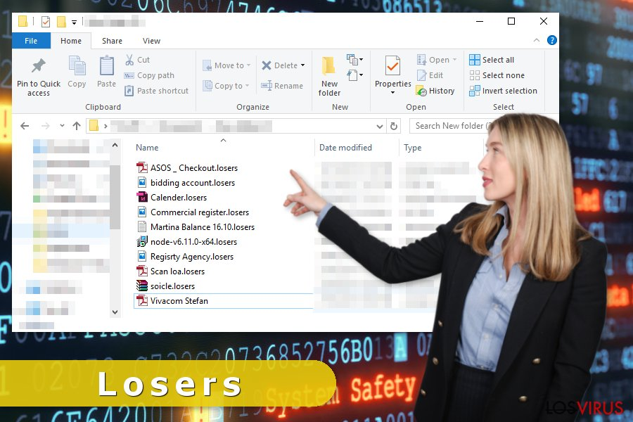 Ataque del virus ransomware Losers