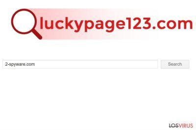 Captura de pantalla de Luckypage123.com