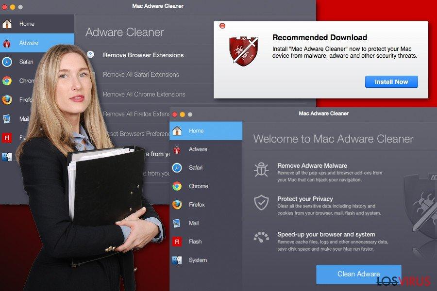 Anuncios de Mac Adware Cleaner
