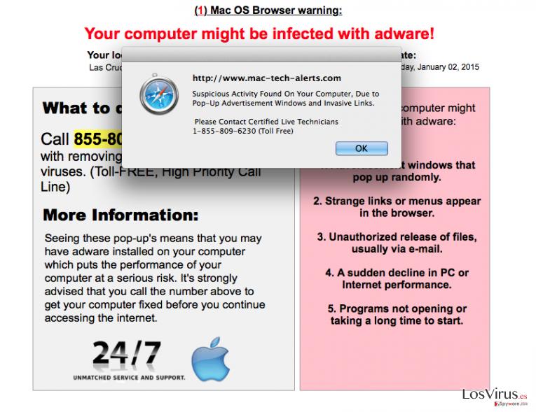 Los anuncios de Mac-computer-alerts.com foto