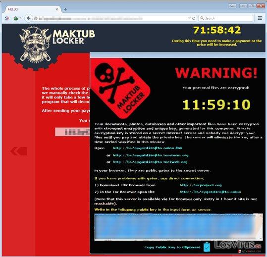 Maktub virus example