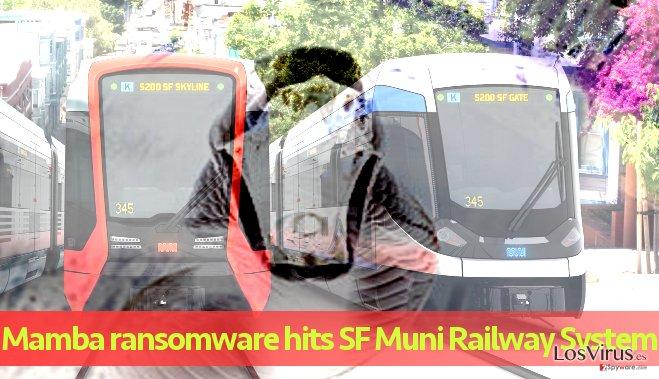 El sistema Muni Railway System afectado por el ataque del ransomware Mamba