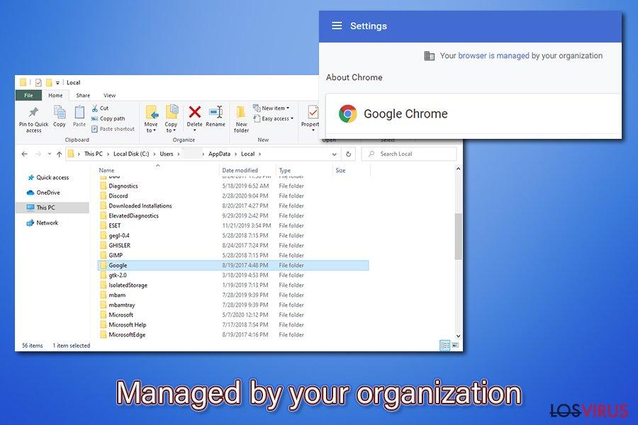 Eliminación de Gestionado por tu Organización