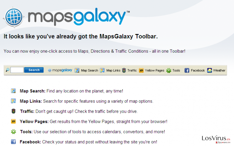 MapsGalaxy Toolbar foto
