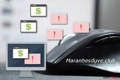 Pop-up de redirección de Maranhesduve.club