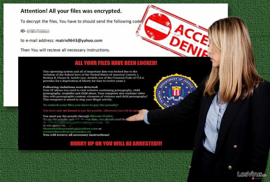 Los ejemplos del ransomware Matrix