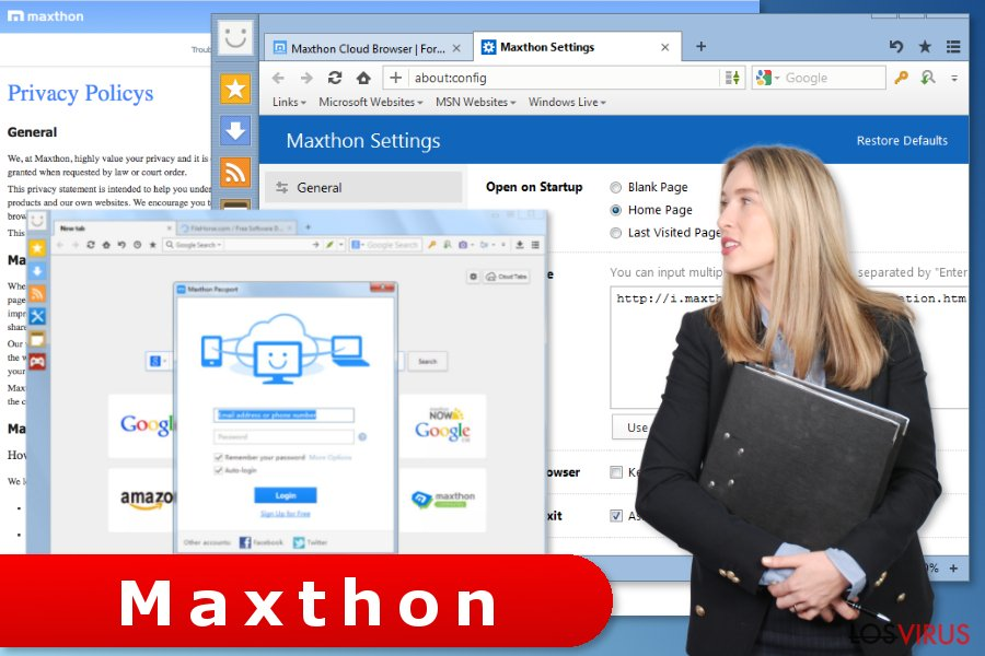 El virus Maxthon Browser foto