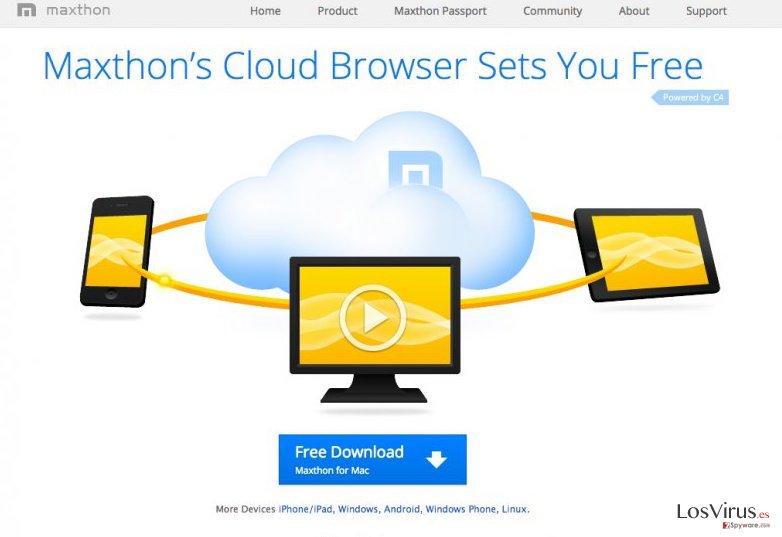 El virus Maxthon Browser