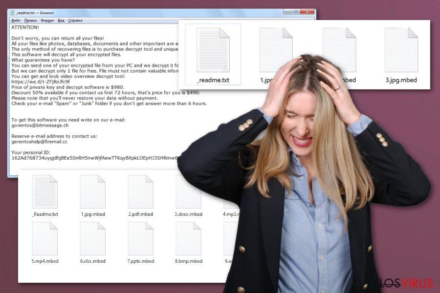 Virus ransomware Mbed