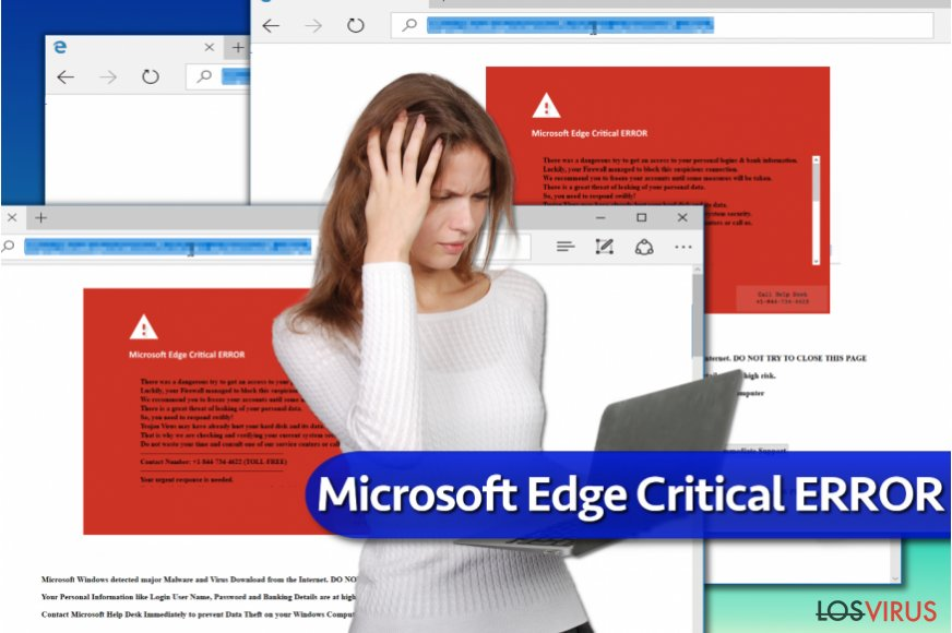"La estafa ""Microsoft Edge Critical ERROR"""