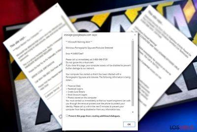 «Microsoft Warning Alert» Tech support scam virus