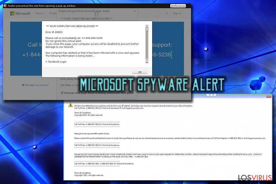 """Virus estafa de soporte técnico """"Microsoft Warning Alert"""" foto"""