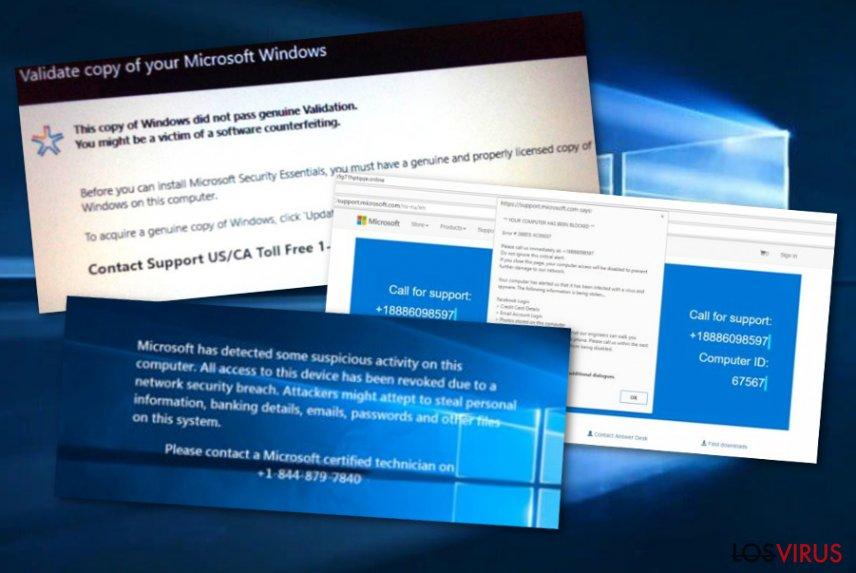 Estafa de soporte técnico Microsoft