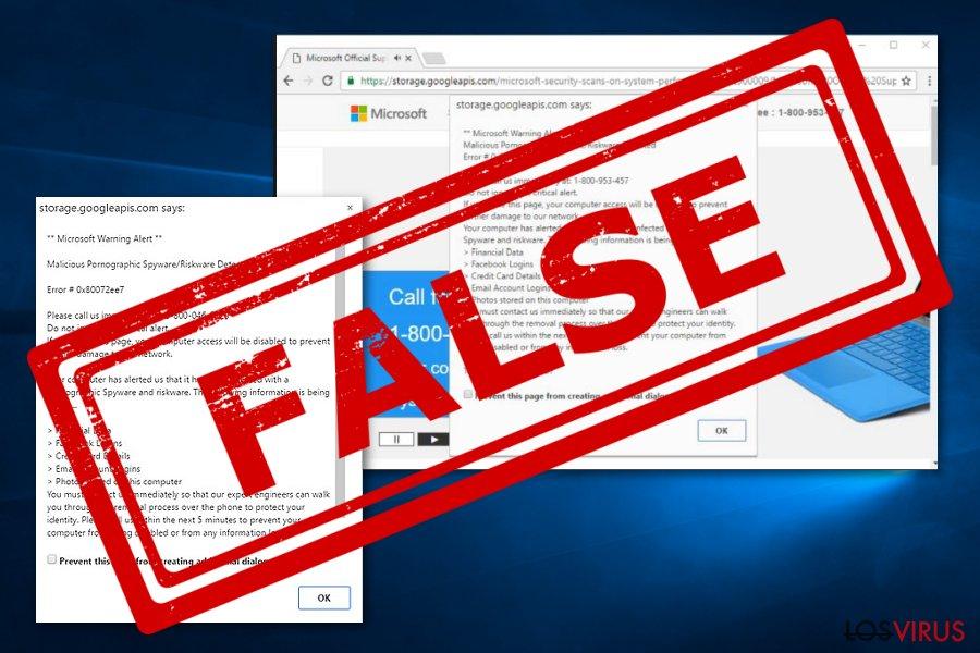 Virus Microsoft Warning Alert