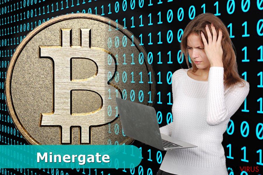 Ejemplo del virus Minergate