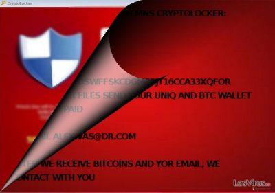 ¿Está relacionado MNS Cryptolocker con CryptoLocker?