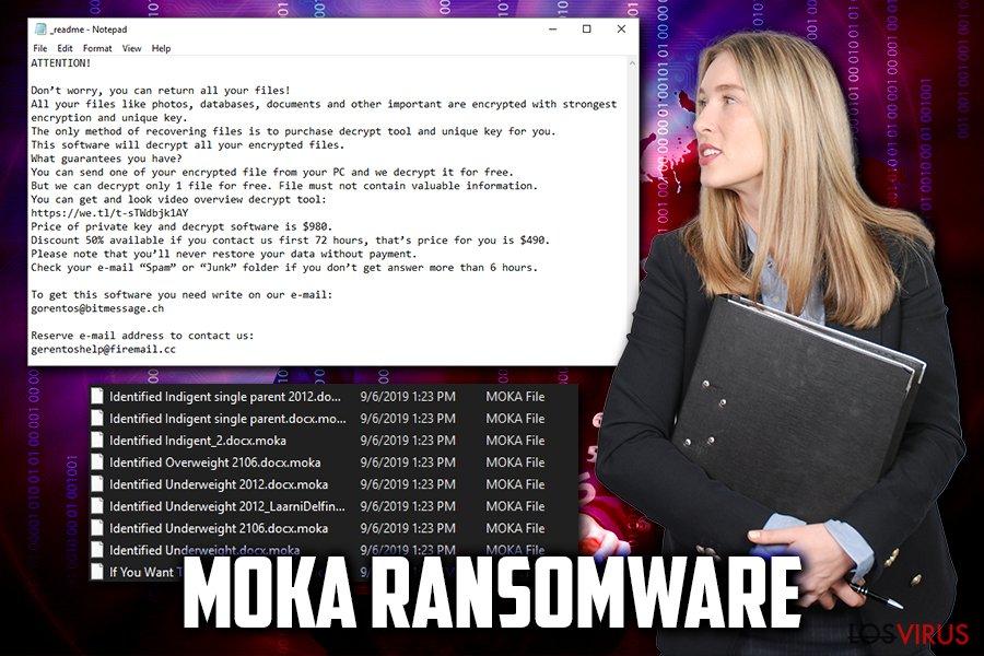 Virus ransomware Moka