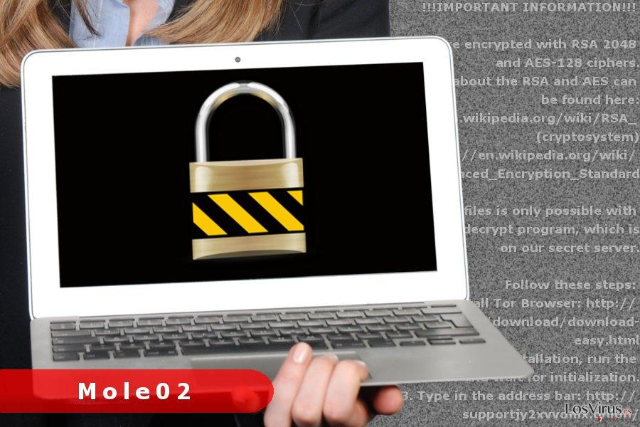 Imagen del virus ransomware Mole02