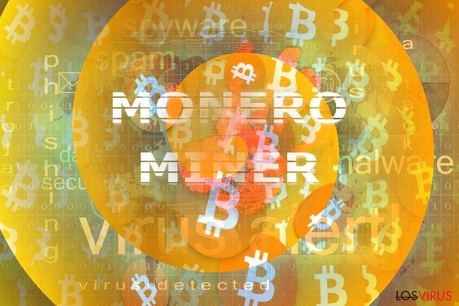 La imagen que ilustra el concepto de Monero Miner