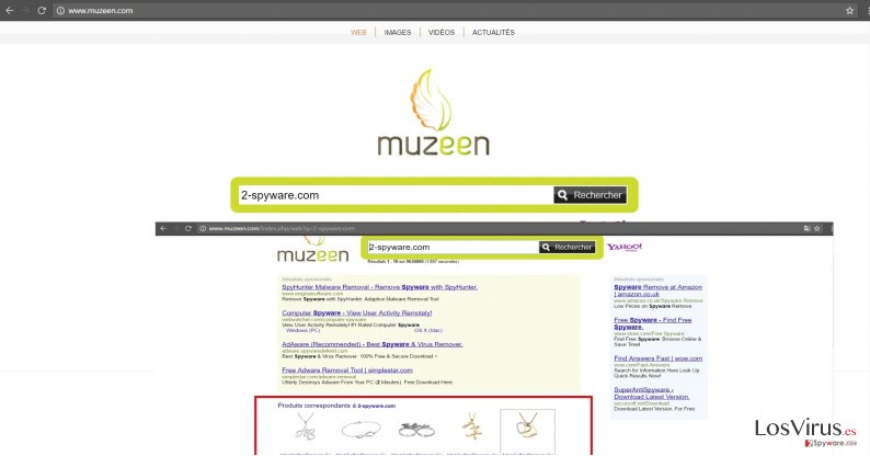 The image revealing muzeen.com virus