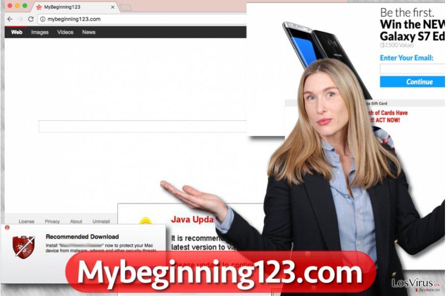 El hacker de navegador Mybeginning123.com
