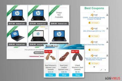 Ejemplo de los anuncios de MyCouponize