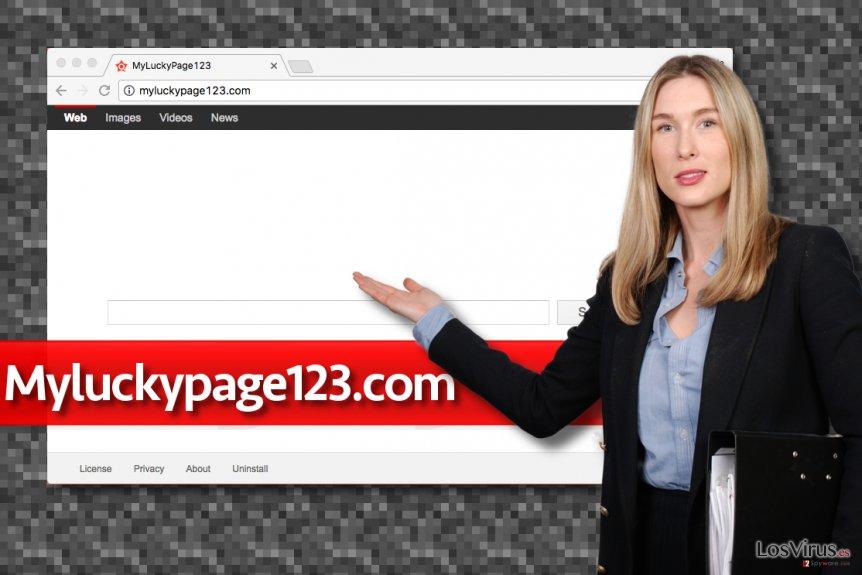 Falso motor de búsqueda Myluckypage123.com