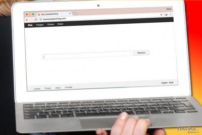 El virus MyLuckySearching.com en el ordenador