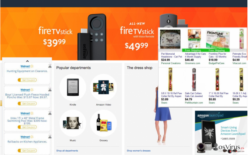 Name ads of shopping website