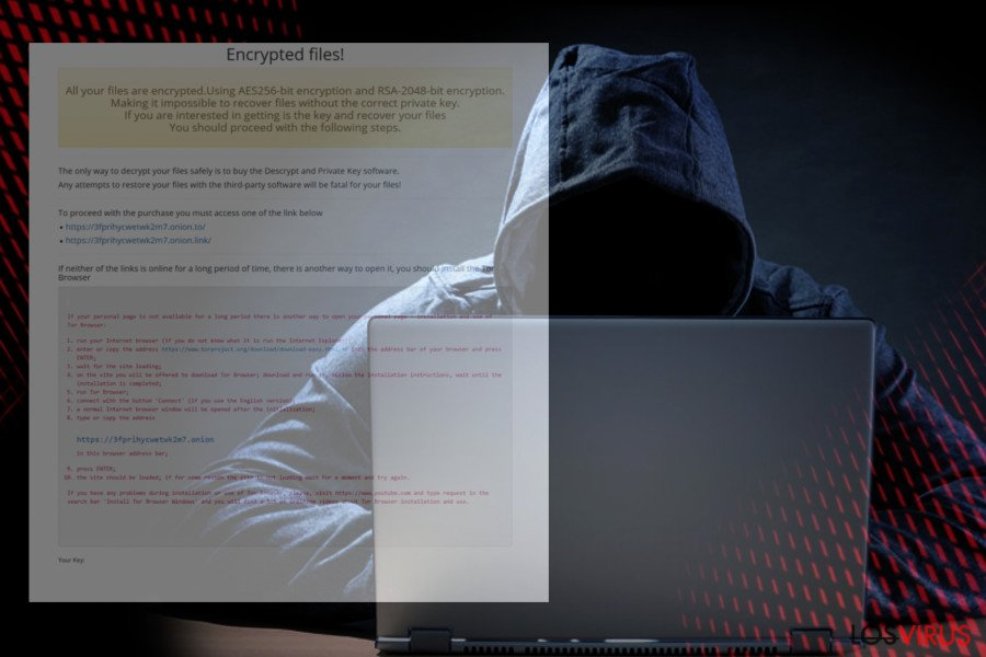 Imagen del ransomware NMCRYPT