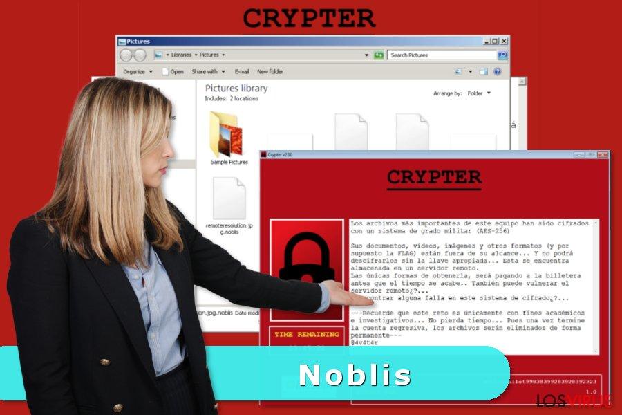 Imagen del virus ransomware Noblis